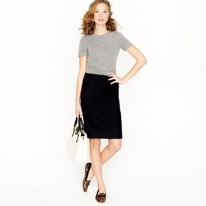 J. Crew No. 2 Pencil Skirt in Double Serge Cotton
